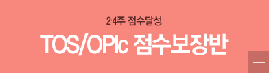 TOS/OPIc 점수보장반